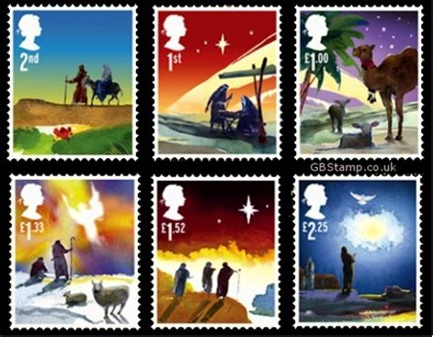 Nativity story features on Christmas stamps