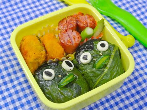 【All Aboutお弁当】混ぜ込み寿司で妖怪キャラ弁、かっぱ弁当