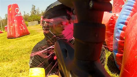 Getting Shot in the Face & More Paintball Fun - YouTube