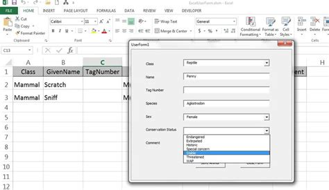How to add a UserForm to aid data entry in Excel