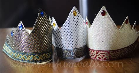3 Wise Men Crowns - looks easy enough to make without a